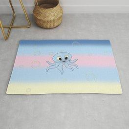 Baby Blue Octopus Rug