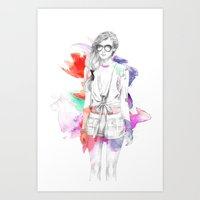 Top Shop Runway Art Print