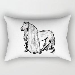 Andalusian horse Riding Pony Rectangular Pillow