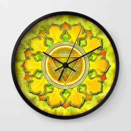 Manipura Chakra - Solar Plexus Chakra - Series III Wall Clock