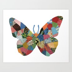 The Butterfly. Art Print