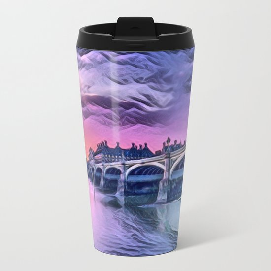 Big Ben with Sunset (London, England) Metal Travel Mug