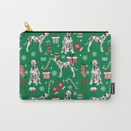 Dalmatian dog breed christmas holiday presents candy canes dalmatians dogs Carry-All Pouch