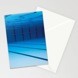 Underwater Empty Swimming Pool. Stationery Cards