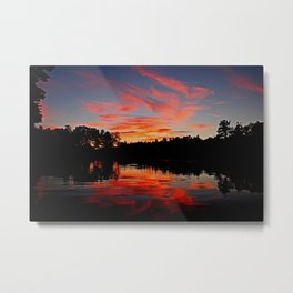 Wildfire sky Metal Print