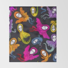 colorful hybrid witches Throw Blanket