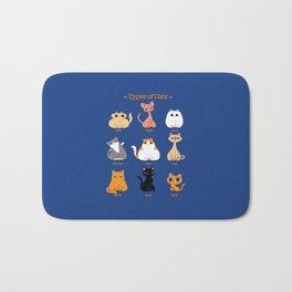 Types of Cats Bath Mat