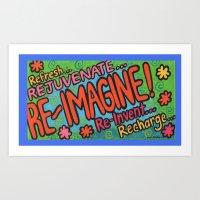 Re-Imagine Art Print