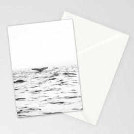 WHITE - SEA - WAVES - WATER - WHALE - NATURE - ANIMAL - PHOTOGRAPHY Stationery Cards