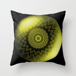 Solar Plexus Yellow Chakra Throw Pillow
