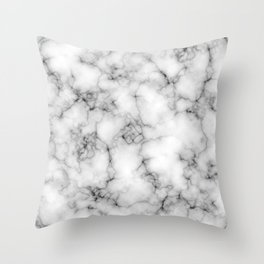 White Marble Texture Throw Pillow