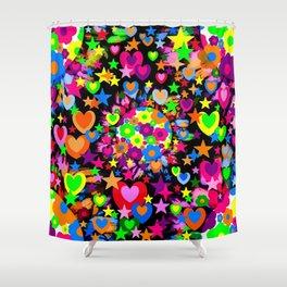 Groovy Love! Shower Curtain