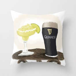 Vacation Drinks Throw Pillow