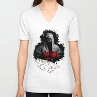 boxing V-neck T-shirts featuring Death Boxing by tshirtsz