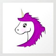 Unicorn pink Art Print
