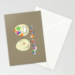 Easter eggs Stationery Cards