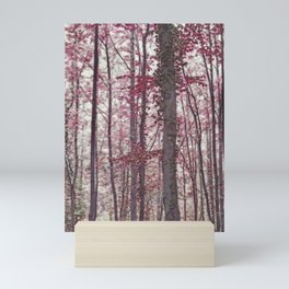 Ethereal Austrian Forest in Burgundy Mini Art Print