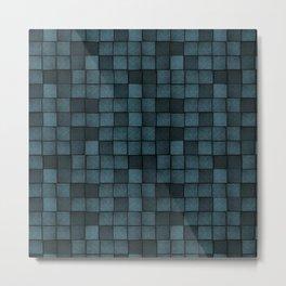 Wood Blocks-Blue Metal Print