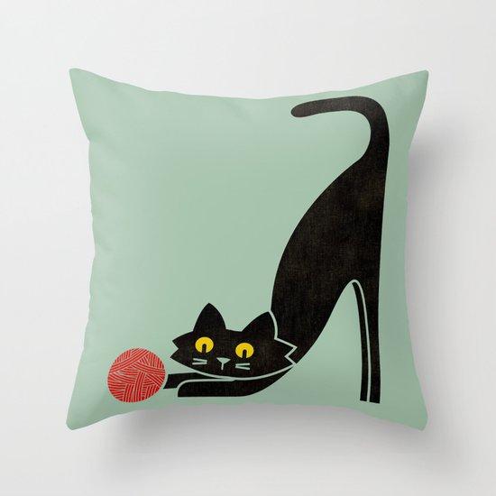 Fitz - the curious cat Throw Pillow