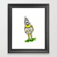 The BumbleBee Girl  Framed Art Print