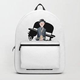 ***Ltd Edition: retro art charlie chaplin Backpack