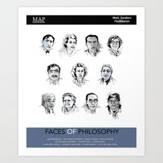 MAP Faces of Philosophy Poster Art Print