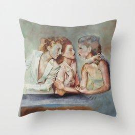gossip 3 Throw Pillow