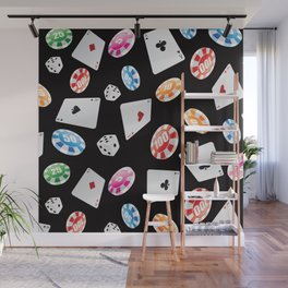 #casino #games #accessories #pattern 2 Wall Mural