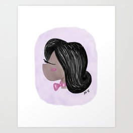 Girl with a Pink Bow Art Print