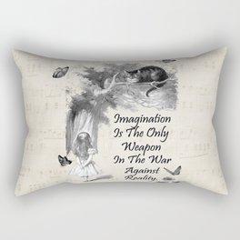 Alice In Wonderland Quote - Imagination Rectangular Pillow