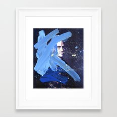 Blue Explosion Framed Art Print