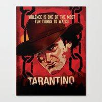tarantino Canvas Prints featuring TARANTINO Unchained by Jesus De La Mora