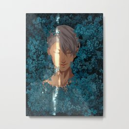 Surrounded by Flowers Metal Print