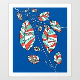 Colorful Tree Branch Drawing by Emma Freeman Designs Art Print