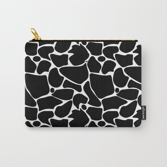Black and white abstract pattern . Carry-All Pouch