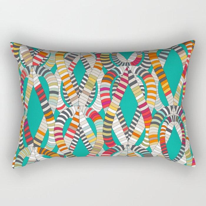 knot drop turquoise Rectangular Pillow