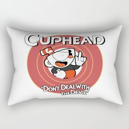 Cuphead don't deal with the devil Rectangular Pillow