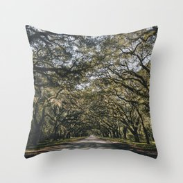 Wormsloe Live Oak Avenue - Savannah II Throw Pillow
