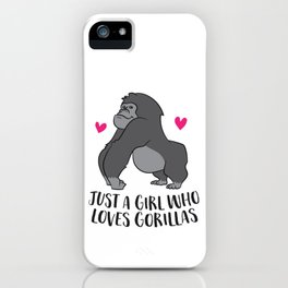 Just a Girl Who Loves Huskies Cute Husky Girl iPhone Case