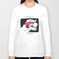 rockabilly Long Sleeve T-shirts featuring Rockabilly Alpaca by Ariel Vittori
