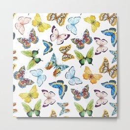 Butterfly Pattern 02 Metal Print