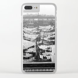 Tenement Yard at Park Ave, New York City 1900 Clear iPhone Case