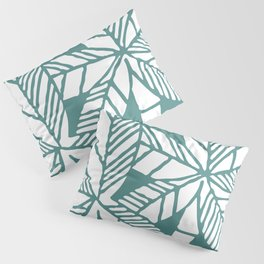 Tropical Palm Tree Composition Teal Green Pillow Sham