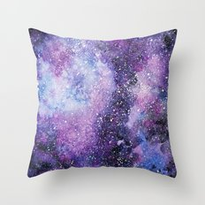 Space. Watercolor Throw Pillow