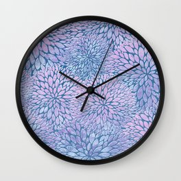 Frozen Petals Wall Clock