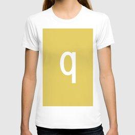 LETTER q (WHITE-GOLD) T-shirt