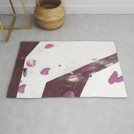 Geometric abstract free climbing bouldering holds pink purple Rug