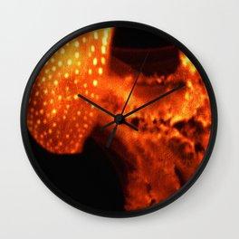 Fish | Jelly Fish | Fiery Orange Jellyfish | Orange and Black Wall Clock