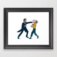 Abe Lincoln VS Captain Kirk Framed Art Print