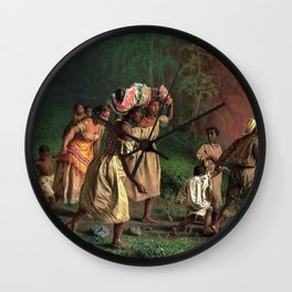 African American Masterpiece 'Emancipation or On to Liberty' by Theodor Kaufmann Wall Clock